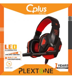 Plextone PC780 Double Bass Gaming Headphones Headsets with HD Mic + LED Light Noise Cancelling Headphone