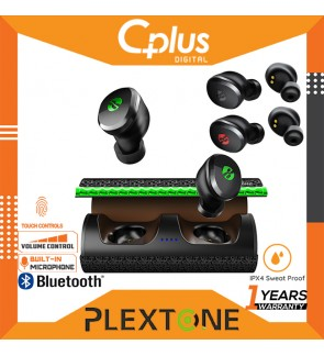 Plextone 4Free Bluetooth 5.0 True Wireless Low Latency Gaming Headset with Mic , Touch Sensor