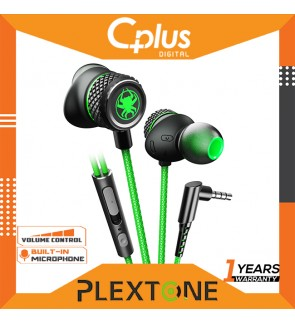 Plextone G15 Mark 3 Magnetic Stereo Strong Bass Game In-Ear Earphone with Mic and Volume Control