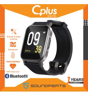 "SoundPEATS Watch 1 Smart Sports Watch Health and Fitness Tracker with Heart Rate Monitor Sleep Quality Tracker IP68 Waterproof 1.4"" Color Touch Screen Call & Message Reminder 12 Sports Modes"