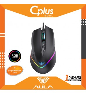 AULA F805 Gaming Mouse Marco Programmable RGB Colorful Lighting 6 gear DPI backlight 7 programmable buttons for PC Laptop Computer