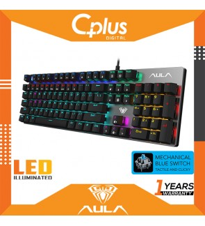AULA S2016 Gaming Mechanical keyboard 104 Keys Anti-ghosting Marco Programming LED Backlight Keyboard for PC Laptop Computer