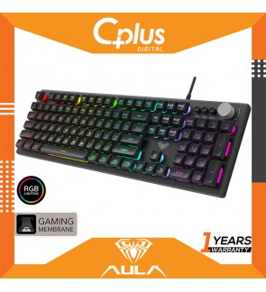Aula F2028 Mechanical Membrane Gaming Keyboard, 104 Keys Macro Programming RGB Back light Keyboard