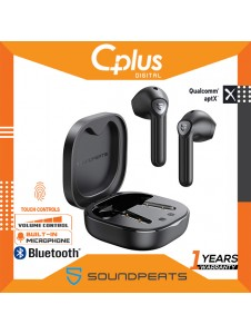 SoundPEATS TrueAir2 Bluetooth V5.2 True Wireless Earphones with Qualcomm QCC3040, Dual Mic and CVC 8.0 Noise Cancellation
