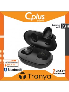 Tranya M10 Bluetooth 5.0 Wireless Earbuds with Wireless Charging Case TWS Stereo Headphones in Ear 14.2mm Driver Quad-Mic System aptX Headset Premium Sound with Deep Bass