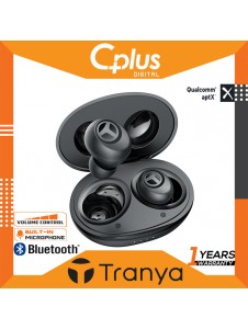 Tranya T10 Bluetooth 5.0 Wireless Earbuds with Wireless Charging Case IPX7 Waterproof TWS Stereo Headphones in Ear 12mm Driver Built in Mic aptX Headset Premium Sound with Deep Bass for Sport