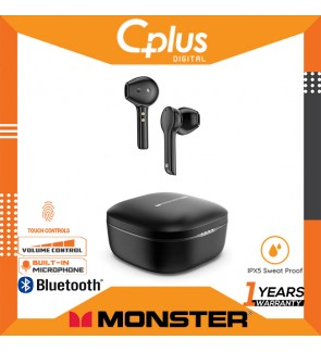 Monster Clarity 550 LT Wireless Earbuds, True Wireless Earbuds with 4 Noise Cancellation Mics Support Clear Phone Call Type-C and Wireless Quick Charge, 24H Playtime, IPX5 Water Resistant